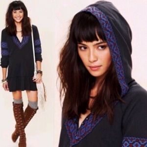 Free People Capetown Hooded Embroidered Tunic